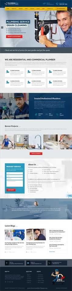 Plumbing spl is beautifully design 5in1 responsive #WordPress theme for plumber, #handyman and repair service website download now➩ https://themeforest.net/item/plumbing-spl-plumber-wordpress-theme/19272855?ref=Datasata