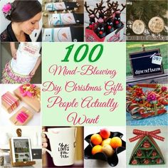 100 Mind-Blowing DIY Christmas Gifts People Actually Want - 100+ inexpensive handmade Christmas gifts on diyncrafts.com ...find something for everyone on your list all in one place!