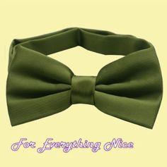 Olive Green Formal Groomsmen Groom Wedding Mens Neck Bow Tie