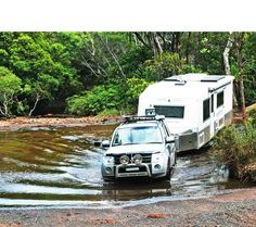 One of our elite off road caravans crossing some tough terrain!   p. (07) 5438 9898 e.sales@freespiritcaravans.com.au www.freespiritcaravans.com.au