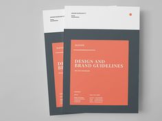 Brand Manual and Identity Template – Corporate Design Brochure  Minimal and Professional Brand Manual and Identity Brochure template for creative businesses, created in Adobe InDesign in Internati...