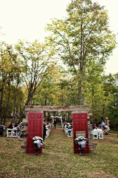 There's that doorway to the ceremony again.... so neat! Outdoor Ceremony Ideas , Wedding Ceremony Photos by Jenny Lindsey Photography
