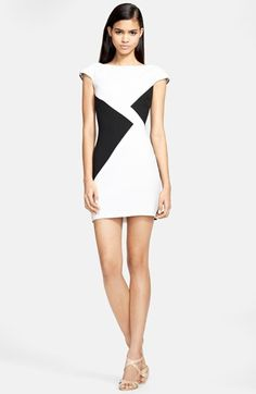 Versace Collection Colorblock Dress available at #Nordstrom