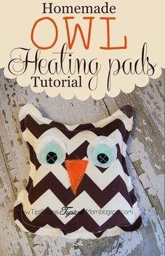 Homemade Owl Microwave Heating Pads. My daughter cut out all the pieces herself (she is 13) then I helped her sew these. These would be perfect for Christmas Friend Gifts! My kids get leg cramps at night and these are lifesavers! by KayVee