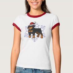 Christmas Rottweiler T-Shirt   rottweiler american, rottweiler puppy names, pitbull rottweiler mix #rottweilers #rottweilerlover #rottweilerpuppies Rottweiler Quotes, Rottweiler Funny, Rottweiler Training, Rottweiler Puppies, Rottweilers, Pitbulls, Puppy Names, Husky Mix, T Shirts For Women