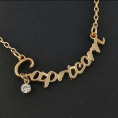 "Capricorn necklace Zodiac signs necklace gold tone This listing is for ""CAPRICORN"" see other listings for the other signs New in plastic packaging Length 16.5 inches ** Jewelry Necklaces"