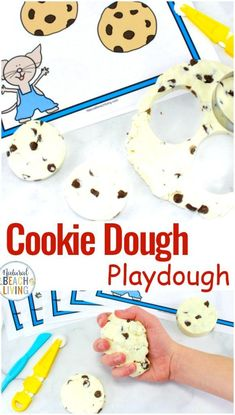 Cookie Dough Playdough Recipe – Edible Playdough If You Give A Mouse A Cookie Activities – Natural Beach Living – Keaghan Wier – art therapy activities Playdough Activities, Art Therapy Activities, Science Activities For Kids, Toddler Activities, Book Activities, Preschool Centers, Steam Activities, Mouse A Cookie, Laura Numeroff