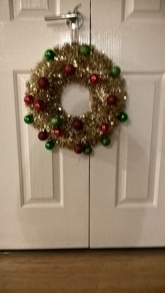 My very first traditional Christmas wreath