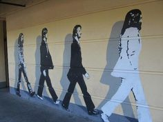 The infamous Beatles Mural, Downtown Chico. Beautiful Places To Live, Beautiful Streets, Beautiful Day, Chico California, Northern California, Chico State, Cat Store, Different Kinds Of Art, Winter Palace