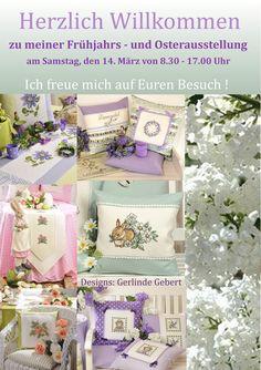 Einladung zur Frühjahrs - und Osterausstellung 86732 Oettingen , Pfarrgasse 13  Gerlinde Gebert Shop: www.gebert-handarbeiten.de
