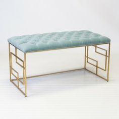 Turquoise Leafed Bench