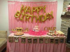 1st birthday pink & gold