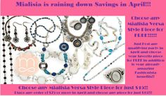 April Specials!!!   New catalog and new pieces!!!    http://susankogut.mialisia.com www.lifechangingjewelry.com