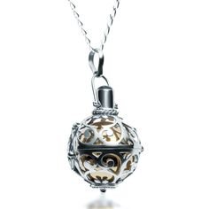 Silver Harmony Ball Necklace- Large   Zaffre Jewellery Australia