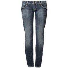 Fracomina GRETA Slim fit jeans stonebleached ($105) ❤ liked on Polyvore