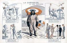 René Préjelan. La Chrysalide et ses Papillons. La Vie Parisienne, 1918. [Pinned 15-ii-2015]