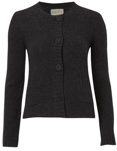 Charcoal Cashmere Jackie Cardigan The Jackie cardigan in super soft pure cashmere has trans-seasonal appeal and does double duty as both a little jacket and an elegant cardigan. The Jackie is about to become a favorite in your cupboard. Wear it over dresses, tailored trousers or jeans. This piece will take you everywhere.