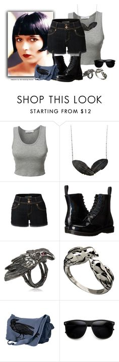 """""""Set #1691 - Lenore in Summer"""" by the-walking-doctor ❤ liked on Polyvore featuring Brooks, LE3NO, Aurum By Gudbjorg, Dr. Martens, Maria Nilsdotter, Raven Denim and ZeroUV"""