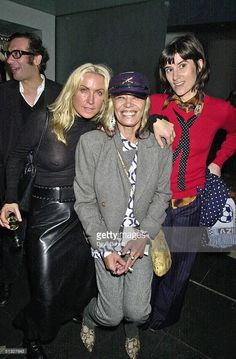 Meg Matthews, Anita Pallemberg and Bella Freud attend the Frost French Launch Party in The Light Bar at St Martins Hotel on September 18, 2001 in London.