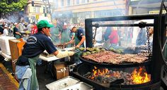 If you don't mind the crowd, its the best way to sample all the local BBQ!