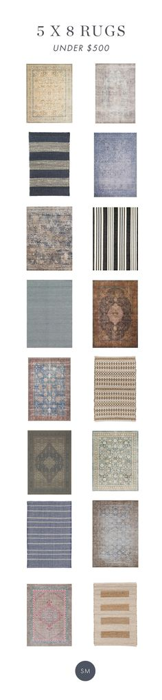 Our Favorite 5 x 8 Rugs under $500 - Affordable rugs from McGee & Co.