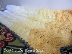 Craft with Confidence: Ombre Chevron Crochet Baby Blanket Afghan Blanket, Baby Blanket Crochet, Crochet Baby, Knit Crochet, Crochet Blankets, Chevron Crochet, Crochet Patterns, Crochet Ideas, Baby Crafts