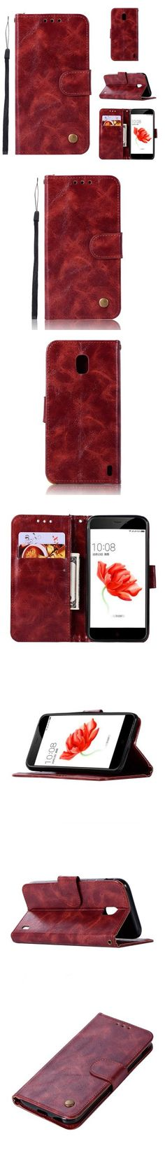 Flip Leather Case PU Wallet Case For Nokia 2 Smart Cover Extravagant Retro Fashion Phone Bag with Stand