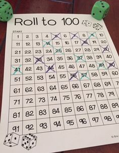 There are so many fun games that can be played with a 100 Chart! One of my favorites is Roll to 100.       T his is a game that I created as...