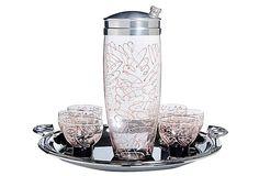 Swirl Glass Cocktail Set, 8 Pcs