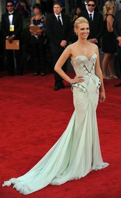#fashion  #January Jones  #awards  #evening gown  #red carpet