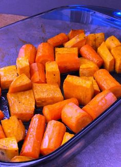 Honey Balsamic Roasted Carrots and Sweet Potatoes