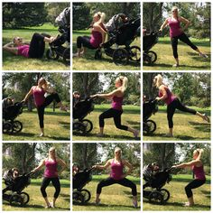 Get back to the barre after baby! New moms can stay fit by using a stroller to perform various barre moves. #barrefitness #fitmom #barreworkouts #barreforte #meetyourbest