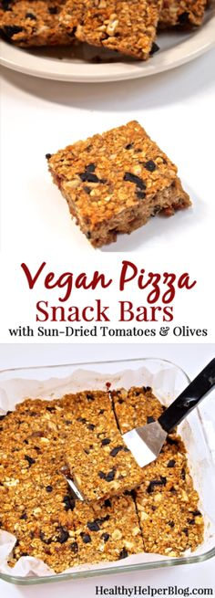 Vegan Pizza Snack Bars • Healthy Helper #glutenfree #vegan #noaddedsugar #healthysnack