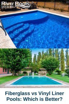 Torn between a fiberglass and vinyl liner swimming pool? Here's an overview of the pros and cons of each! #vinyllinerpool #fiberglasspool #ingroundpool Fiberglass Swimming Pools, Swimming Pools Backyard, Pool Liners, Vinyl Pool, In Ground Pools, Waves, World, Outdoor Decor, Recipes