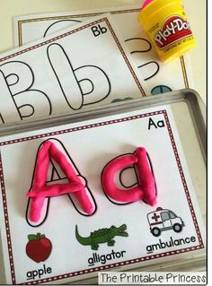 Letters with play dough