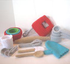 CROCHET N PLAY DESIGNS: New Crochet Pattern: Ultimate Baking Set