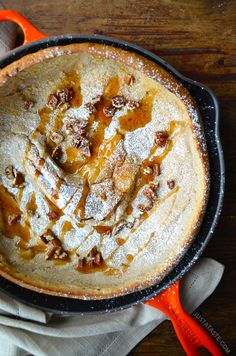 Pumpkin Spice Dutch Baby Pancake - from @Kelly Senyei | Just a Taste