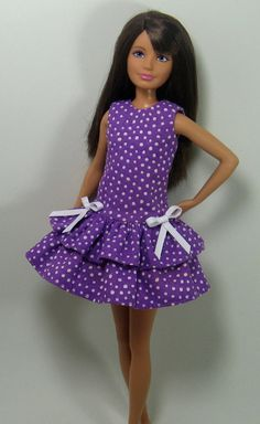 Skipper Doll Clothes  Purple Polka Dot by OhSoChicDollClothes, $8.50