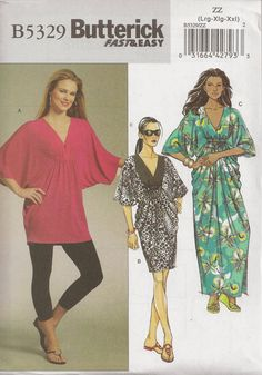 Butterick B5329 Sewing Pattern Misses Dress And by SewchelePlanet, $4.95