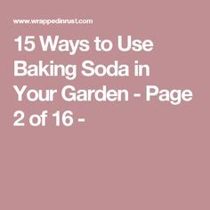 15 Ways to Use Baking Soda in Your Garden - Page 2 of 16 -