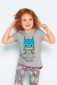Buy Grey Marl Mummy's Little Super Hero T-Shirt (3mths-6yrs) from the Next UK online shop