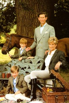 Prince Charles, Diana, and sons. If only Diana and Charles could have remained as happy together as they appear in this photo.