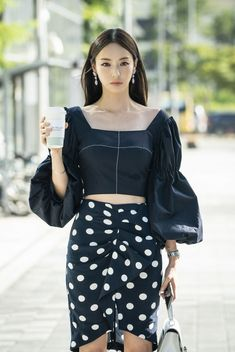 Korean fashion has been trending for many years, and it's for good reasons. With Korean's approach to outfits, accessories, and shoes, it is no doubt how many people search for Korean fashion trends for great looks. Kpop Outfits, Korean Outfits, Fashion Outfits, Womens Fashion, Korean Clothes, Korean Dress, Fashion Clothes, Latest Fashion, Fashion Ideas