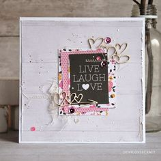 LIVE, LAUGH, l♥ve.. CARD from great collection by @Pink Paislee - Bella ROUGE #bellarouge