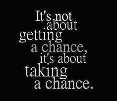Take a chance on love