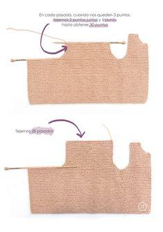 Cómo hacer un chaleco de punto de bebé con volantes en las mangas DIY - Tutorial y Patrón