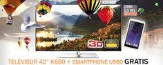 """Compra un TV 42"""" 4K 3D UHD y llévate GRATIS un smartphone 5,5"""" HD"""