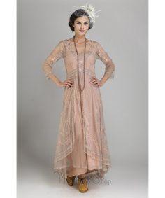 40163 Downton Abbey Tea Party Gown in Quartz by Nataya