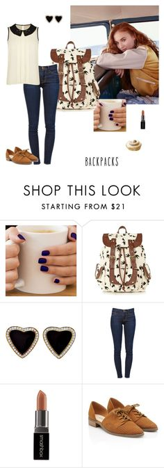 """Donuts at the Break of Dawn"" by falconry ❤ liked on Polyvore featuring ASOS, Call it SPRING, Frame Denim, Smashbox, Darling, backpacks and PVStyleInsiderContest"