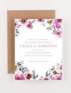 This would be great with different colors free pdf wedding watercolor floral save the date bridal shower wedding invitation stopboris Choice Image